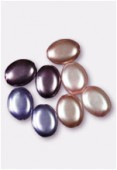12x9mm Czech Smooth Oval Pearls Amethyst Mix x8