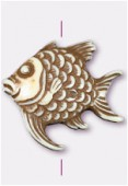 40x37mm Crafted Beads Color Bone Fish Bead x1