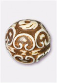 18mm Crafted Beads Byzantine Round Bead  x1