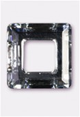 20mm Swarovski Crystal Classic Square Flat Back 4439 Crystal Comet Silver Light x1