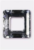 14mm Swarovski Crystal Classic Square Flat Back 4439 Crystal Comet Silver Light x1