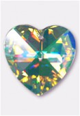 40mm Swarovski Crystal Heart Pendant 6228 Crystal AB x1