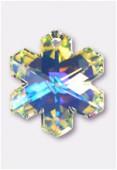 30mm Swarovski Crystal Snowflake Pendant 6704 Crystal AB x1