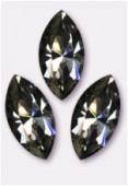 15x7mm Swarovski Crystal Xillion Navette Fancy Stone 4228 Black Diamond F x1