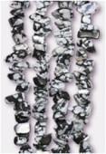 Snowflake Obsidian Semi-Precious Chips x 90cm