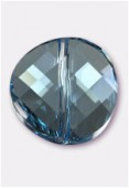 14mm Swarovski Crystal Twist Bead 5621 Aquamarine x1