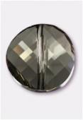 18mm Swarovski Crystal Twist Bead 5621 Black Diamond x1