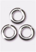 .925 Sterling Silver Open Jump Ring 4mm x2