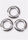 .925 Sterling Silver Open Jump Ring 3mm x4