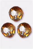 10mm Swarovski Crystal Round 5000 Crystal Copper x1