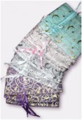 Organza Drawstring Pouch Assortiment Colors x12