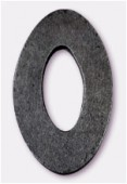 30x48mm Black Oval W / Center Hole Philippine Wooden Component x1