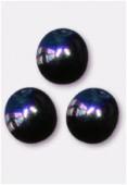 3mm Czech Smooth Round Druk Glass Beads Jet AB x24