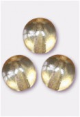 3mm Czech Smooth Round Druk Glass Beads Crystal Champagne x24