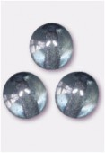6mm Czech Smooth Round Druk Glass Beads Lumi Blue x24