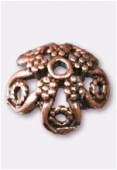 17mm Antiqued Copper Plated Bead Caps x2