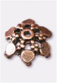 12mm Antiqued Copper Plated Bead Caps x4