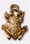 12x16mm Gold Plated Frog Charms Pendant x2