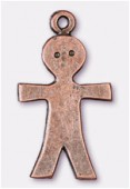15x26mm Antiqued Copper Plated Meta Boy Charms Pendant x2