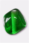 Glass Beads Emerald x8