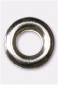 10mm Silver Color Metallized Ring Plastic Bead x4