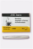John James English Beading Needles 55mm Size 10 x25