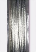 .015 inch (0.38mm) Silver Tiger Tail Wire x10m