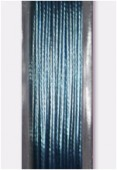 Nylon Coated Steel Wire Metallized Blue x10m