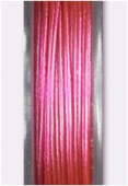 Nylon Coated Metallized Wire Cable Pink x10m