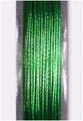 Nylon Coated Metallized Wire Cable Green x10m