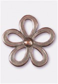 35x35mm Antiqued Copper Plated Daisy Pendant x1