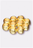 4mm Gold Plated Crimp Beads x5gr