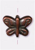 10x7mm Antiqued Copper Plated Butterfly Beads x2
