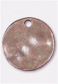 24mm Antiqued Copper Plated Hammered Sequin Charms x1