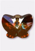 18mm Swarovski Crystal Butterfly Pendant 6754 Crystal Copper x1