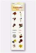 Fuse Art High-Fire Floral Decal For Use With Fuseworks Microwave KILN x1