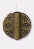 10mm Antiqued Brass Plated Pawn Beads x2