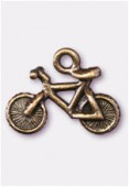 12x12mm Antiqued Brass Plated Bicycle Charms Pendant x2