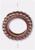 13mm Antiqued Copper Plated Granulated Ring Beads x1