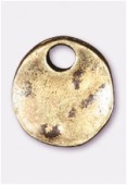 10mm Antiqued Brass Plated Pion Charms Pendant x2