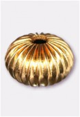 12x10mm Gold Plated Round Beads x2