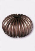 12x10mm Antiqued Copper Plated Round Beads x2