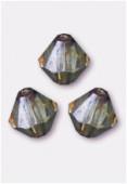4mm Lumi Green Preciosa Czech Crystal Bicone Beads x50