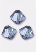 4mm Lumi Blue Preciosa Czech Crystal Bicone Beads x50