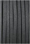 Faux Suede Cord Black x1m