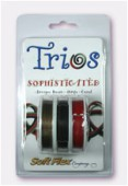 Trios .019 DIA. Sophisticated  Antique Brass-Onyx-Coral x1