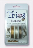 Trios 019 DIA. Extreme 24K Gold-.925 Sterling Silver-Champagne