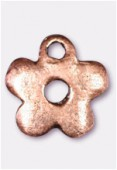 10mm Antiqued Copper Plated Little Flower Charms Pendant x2