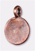 12mm Antiqued Copper Plated Flat Sequin Medallion Charms Pendant x2