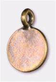 12mm Antiqued Brass Plated Flat Sequin Medallion Charms Pendant x2